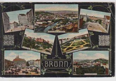 Brno (Brünn), celkový pohled na město, náměstí, La