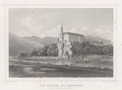 Děčín, Schimmer, oceloryt, 1842