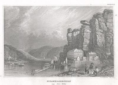 Hřensko, Meyer, oceloryt, 1850