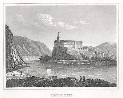 Děčín , Kleine Universum, oceloryt, (1840)