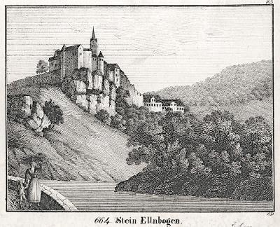 Loket, Neue Bildergalerie, litografie , 1837
