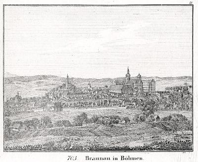 Broumov, Neue Bildergalerie, litografie , 1837