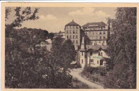 Vilémov-částečný záběr města,domy,ulice
