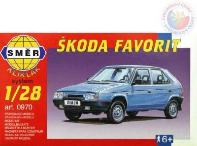 Směr Model auto Škoda Favorit klik 1:28