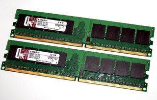 Kingston KVR533D2N4K2/1G 1GB (2x512MB) DDR2 533 (PC2 4200) Memory