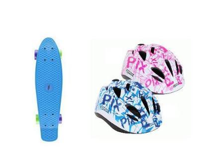 NILS FISHBOARD BASIC blue + PIX dětská helma