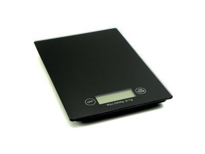 Skleněná kuchyňská váha LCD 5kg 23x16cm GH03001