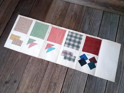 Starý vzorník různých textilií firma JHS 30. léta