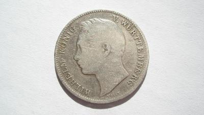 Wurtenberg 1/2 gulden 1839