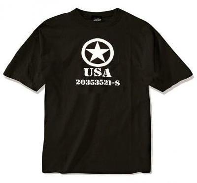 Černé pánské tričko Hvězda JEEP USA  203533521-S velikost XXL