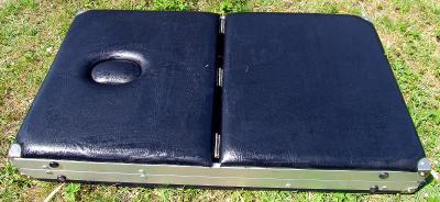 Ruční polohovací masážní lehátko lavice stolek