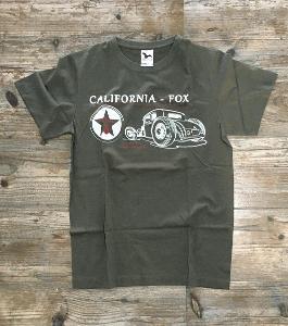 California-Fox HOD-ROD-Speed a Race shop pánské tričko tmavá břidlice