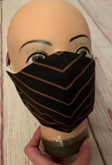 3-vrstvé tvarované bavlněné pánské roušky s kapsou