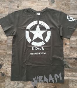 Hvězda U.S.army cars JEEP DODGE HUMMER pánské trička velikost 3XL
