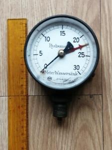 Starý hydrometer Wassersäule nálezový stav