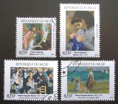 Niger 2015 Umění, Pierre-Auguste Renoir Mi# 3702-05 Kat 24€ 0103