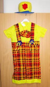 8559 KLAUN - karnevalový kostým pro děti vel.104