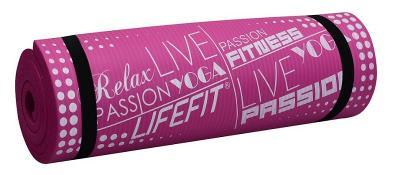 Lifefit YOGA MAT EXKLUZIV PLUS, 180x60x1.5cm,bordó