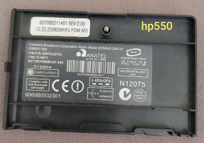 Krytka wifi z ntb HP 550