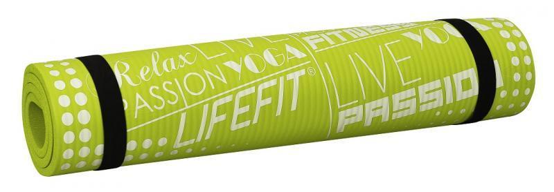 Lifefit YOGA MAT EXKLUZIV 100x60x1cm světle zelená