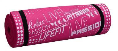 Lifefit YOGA MAT PLUS, 180x60x1.5cm, světle růžová
