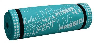 Lifefit YOGA MAT PLUS, 180x60x1.5cm, světle tyrkys