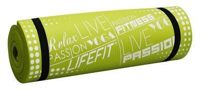 Lifefit YOGA MAT EXKLUZIV PLUS 180x60x1.5cm zelená