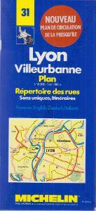 Lyon - Villeurbanne mapa 1993