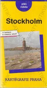 Stockholm - plán města 1992