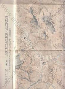 Karte der Lechtaler - Alpen