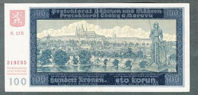 100 korun 1940 serie S.13B NEPERFOROVANA stav 1