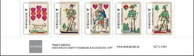 VZ 5 vlastních známek Historické karty (nominál 130 Kč)
