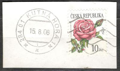 P 543 růže 2008, ústřižek, krásné razítko Kutná Hora