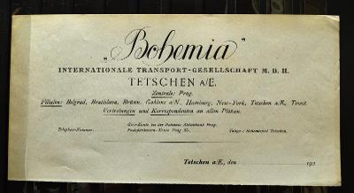 """ITG """"BOHEMIA"""" drážní jízdenka 1930 SUDETENLAND/FN-076"""