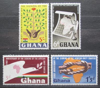 Ghana 1964 Organizace pro africkou jednotu OAU Mi# 177-80 0122