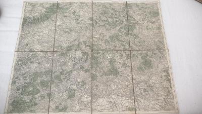 Stará vojenská mapa 1931-Ústí n. Labem-Litoměřice-Terezín-Trmice-Levín