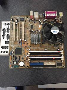 ASUS P5P800-MX + processor