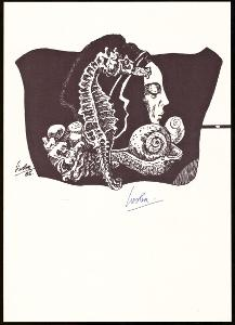 GRAFICKÝ LIST J. LIESLER, PODPIS LIESLER (T9824)