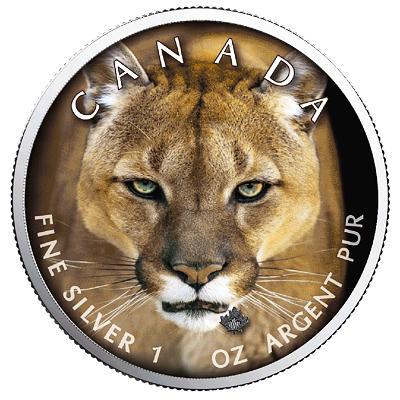 Kanada, 1 unce 2019, Ag 999,9 Puma, raženo pouze 500 kusů