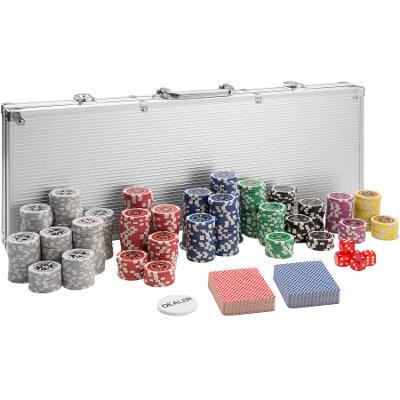 tectake 402559 pokerová sada vč. hliníkového kufru - stříbrná, 500 díl