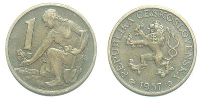 1 Kčs 1957
