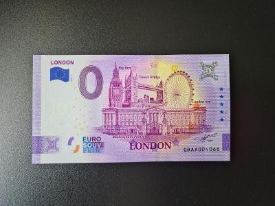 0 Euro souvenir bankovka London ANNIVERSARY EDITION