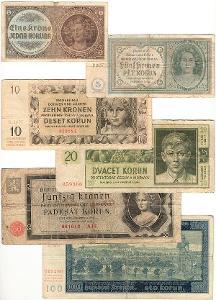 SESTAVA BANKOVEK 1 - Protektorát Č. a M. 1940-1944 !