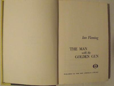 Ian Fleming- Man with golden gun (James Bond, first u.s. edition ! )