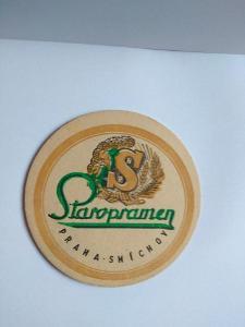 Starý pivní tácek - Staropramen