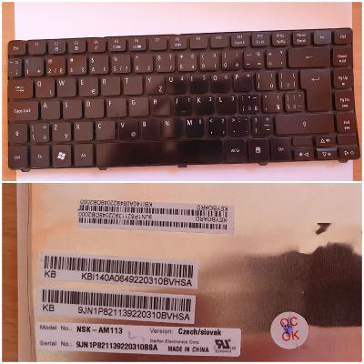 VADNÁ klávesnice / NSK-AM113/ z notebooku ACER Aspire 4810T / MS2271