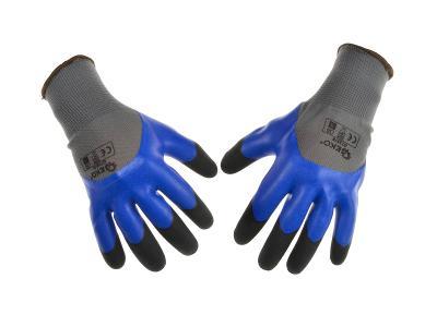 Ochranné pracovní rukavice 12ks vel. 8 zesílené prsty latexové G73575