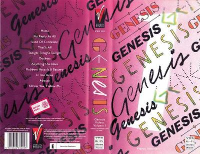 VHS GENESIS - GENESIS VIDEOS Vol.1/1988 UK