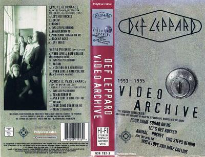 VHS DEF LEPPARD - VIDEO ARCHIVE