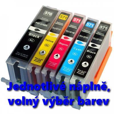 Náplň pro Canon PGI-570 PGBK, CLI-571 Bk ,C,M,Y XL - volný výběr barev